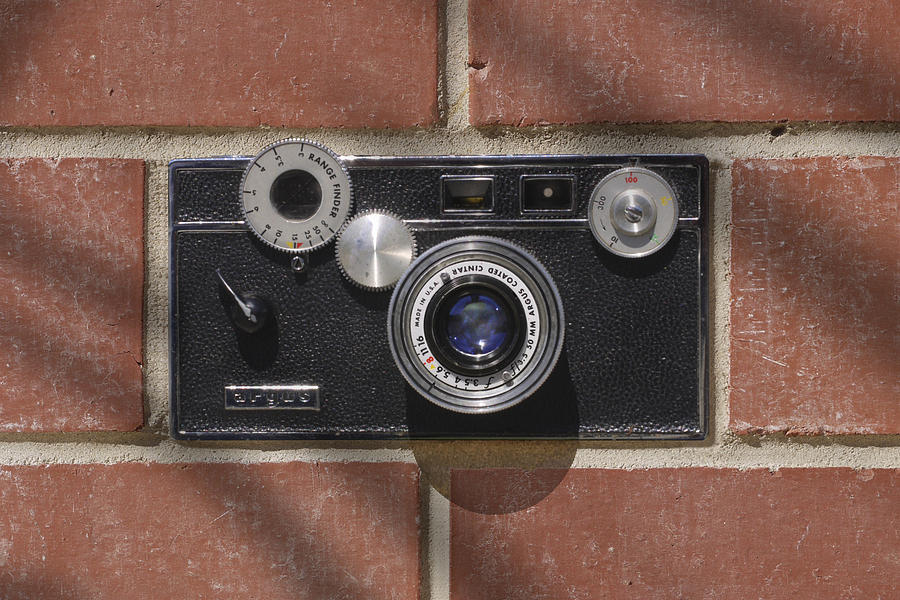 Vintage Film Camera Photograph - Another Brick by Mike McGlothlen