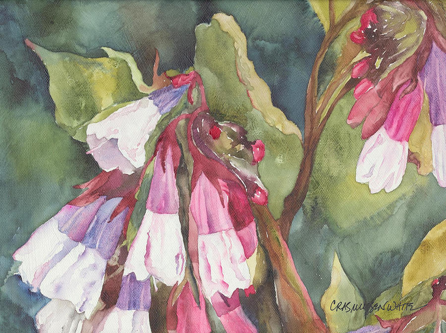 Watercolor Painting - Antebellum by Casey Rasmussen White