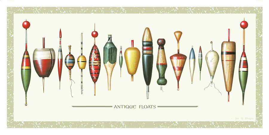 Antique Bobbers Painting