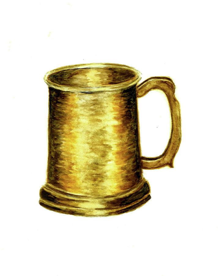 Antique Brass Tankard Painting