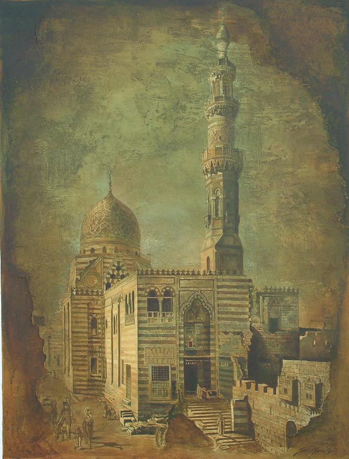 Antique Minar Mixed Media