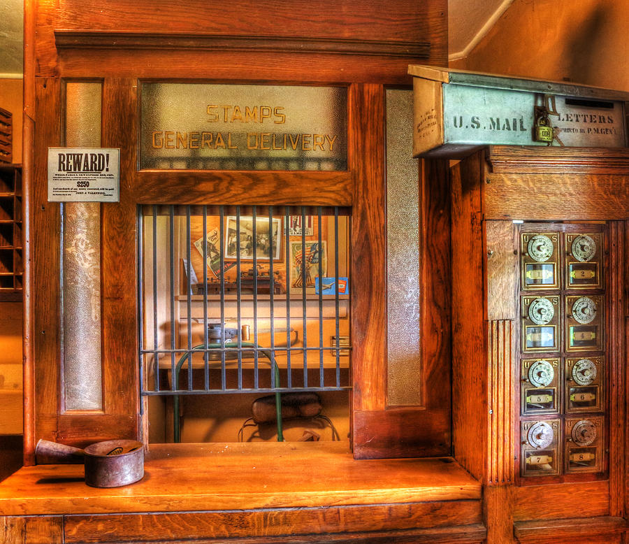 Lee Dos Santos Photograph - Antique Post Office At The General Store -  by Lee Dos Santos