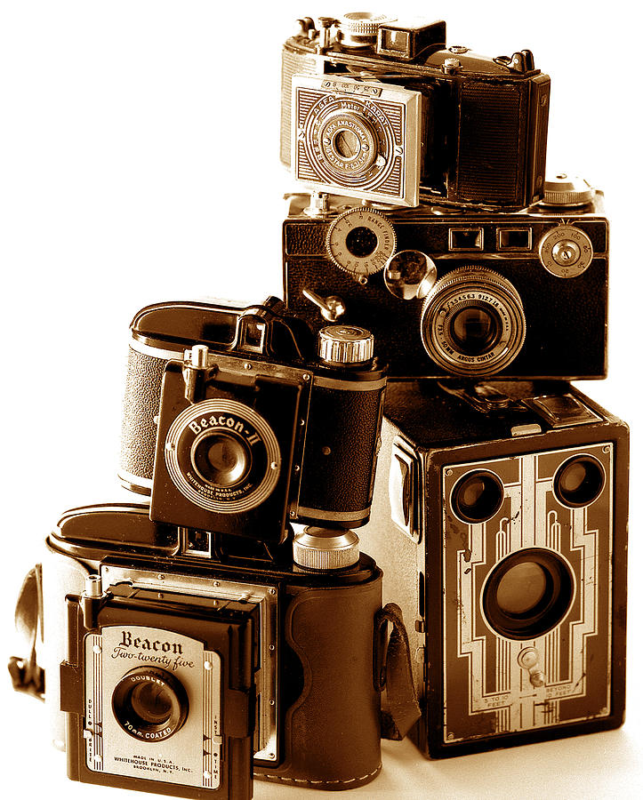 Antique Snapshot Cameras Photograph