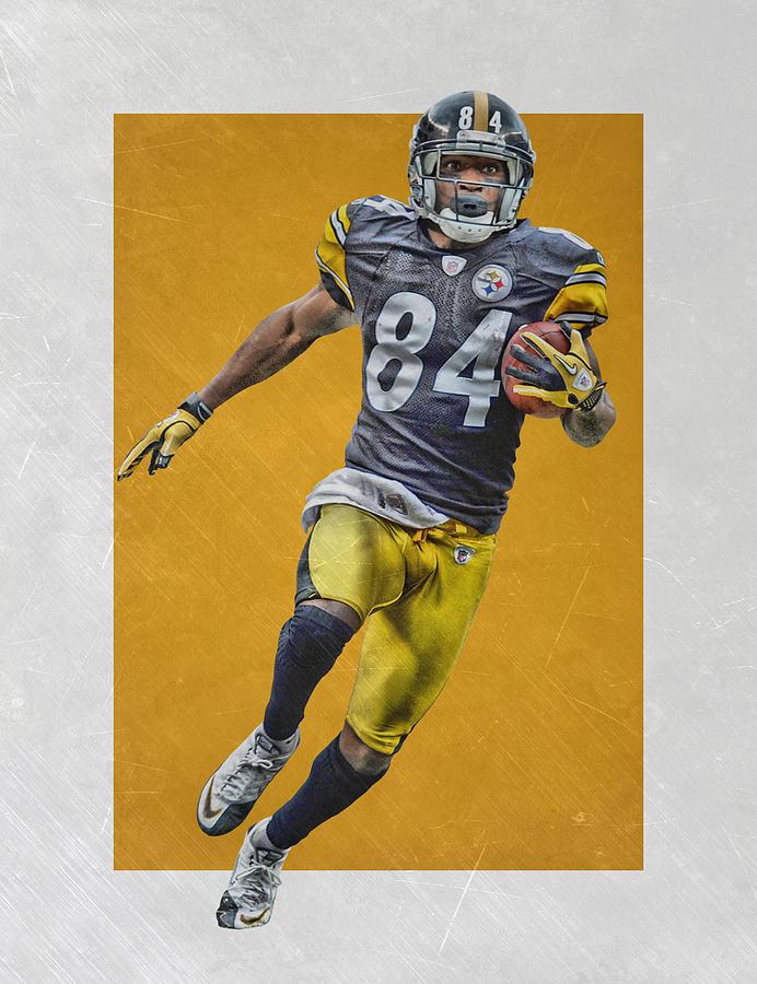 Antonio Brown Pittsburgh Steelers Art Mixed Media By Joe