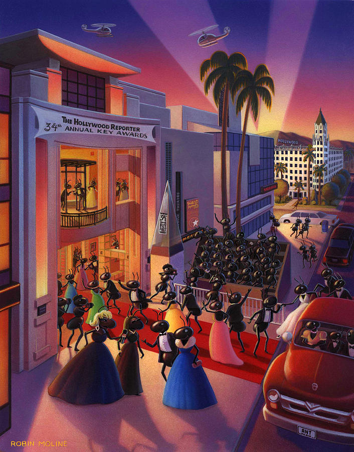 Ants Painting - Ants Awards Night by Robin Moline
