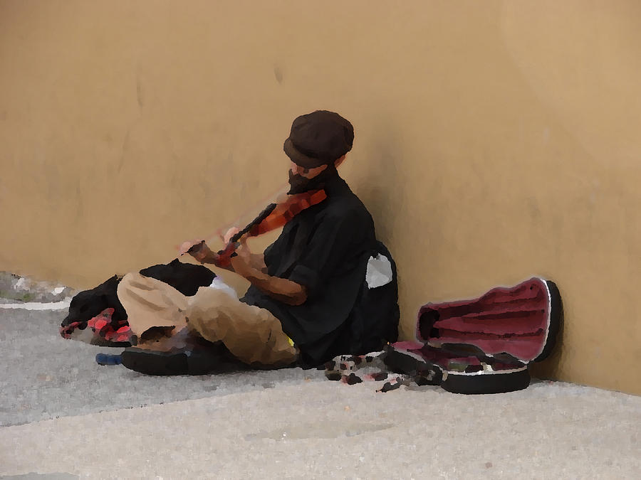Homeless Photograph - Any Man Series - My New Office by Kimberly Camacho