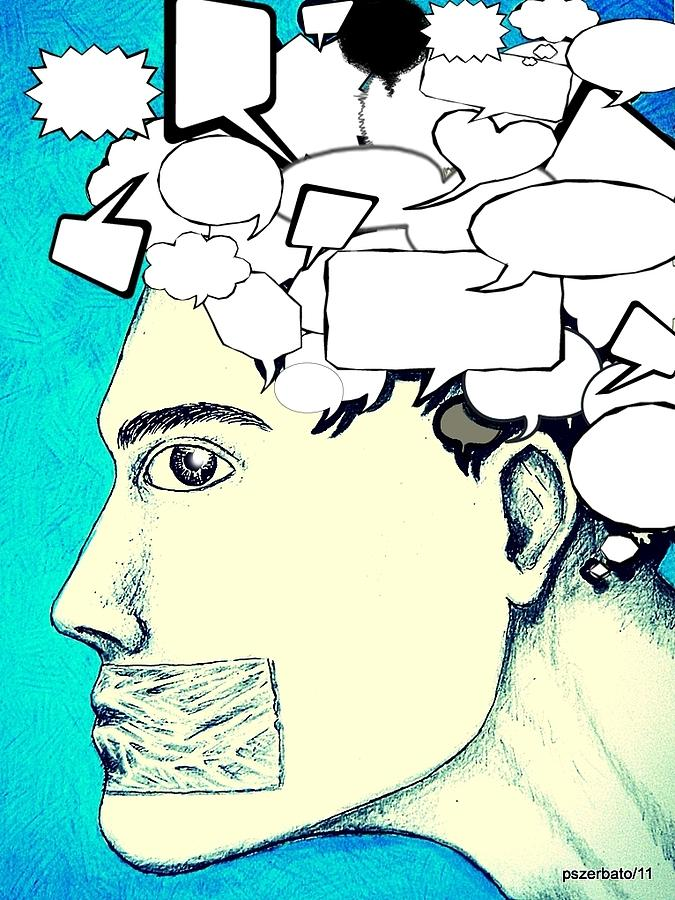 Anything You Say And Think Will Be Used Against You Digital Art