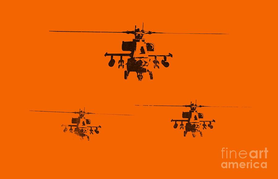 Apache Painting - Apache Dawn by Pixel  Chimp