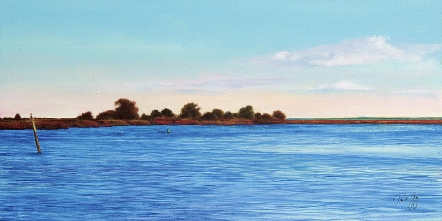 Gulf Of Mexico Painting - Apalachicola Bay Autumn Morning by Paul Gaj