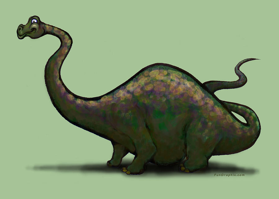 Apatosaurus Greeting Card - Apatosaurus  by Kevin Middleton