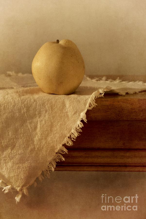 Apple Pear On A Table Photograph