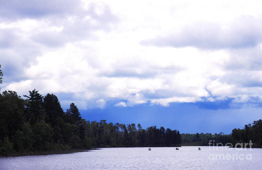 Three Canoes Photograph - Approaching Storm by Thomas R Fletcher