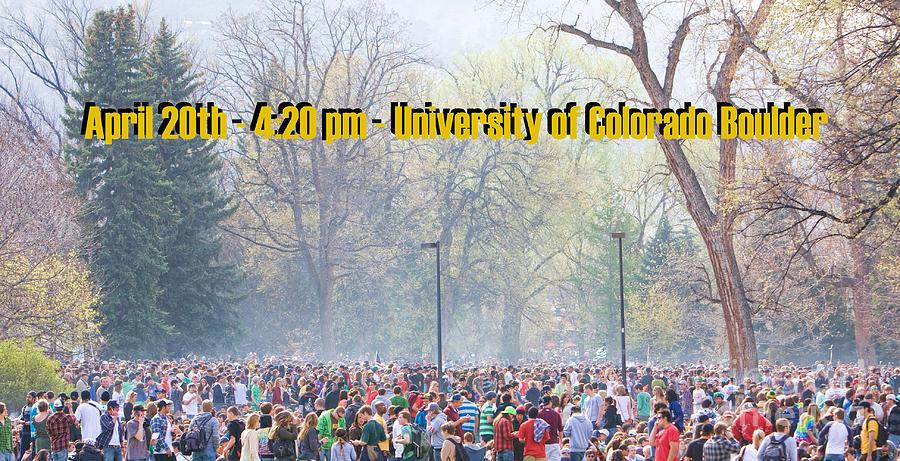 4-20 Photograph - April 20th - University Of Colorado Boulder by James BO  Insogna