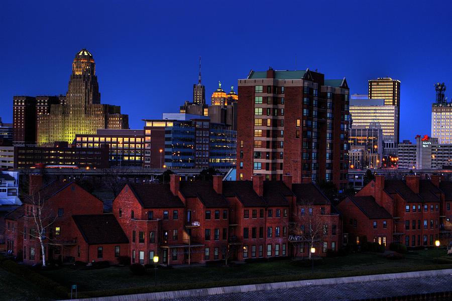 Cityscape Photograph - April Nighttime by Don Nieman