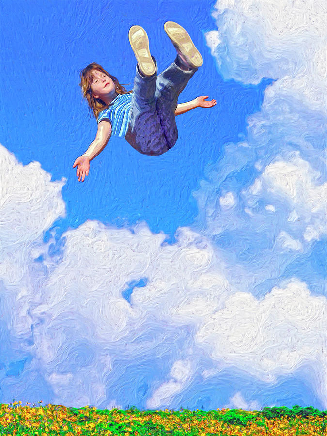 Floating Painting - Aquarius Rising by Dominic Piperata