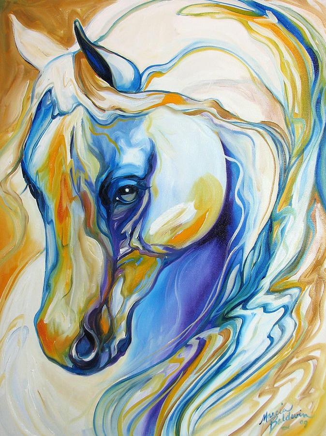 Arabian Abstract Painting by Marcia Baldwin - photo #10