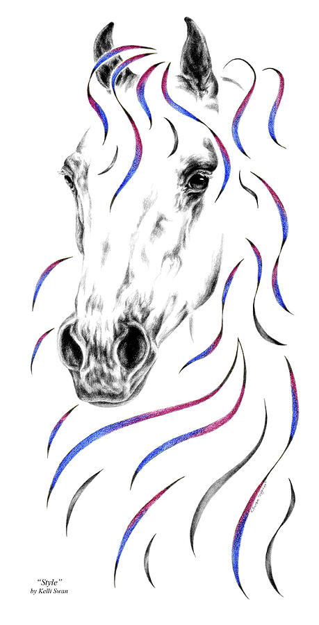Arabian Horse Style Drawing