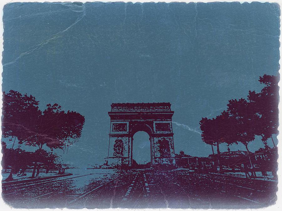 Paris Photograph - Arc De Triumph by Naxart Studio