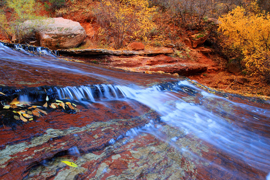 Zion Photograph - Arch Angel Falls In Zion by Pierre Leclerc Photography