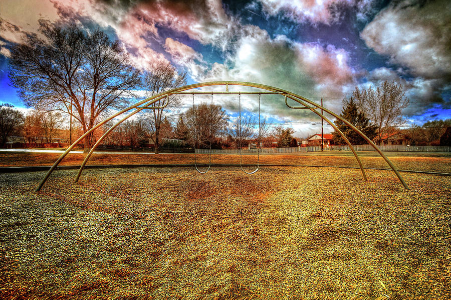 Arch Swing Set In The Park 76 Photograph