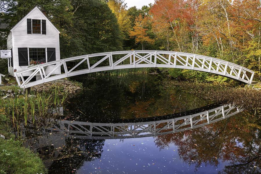 Arched Bridge Photograph - Arched Bridge-somesville Maine by Thomas Schoeller
