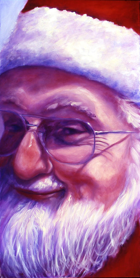 Portrait Painting - Are You Sure You Have Been Nice by Shannon Grissom