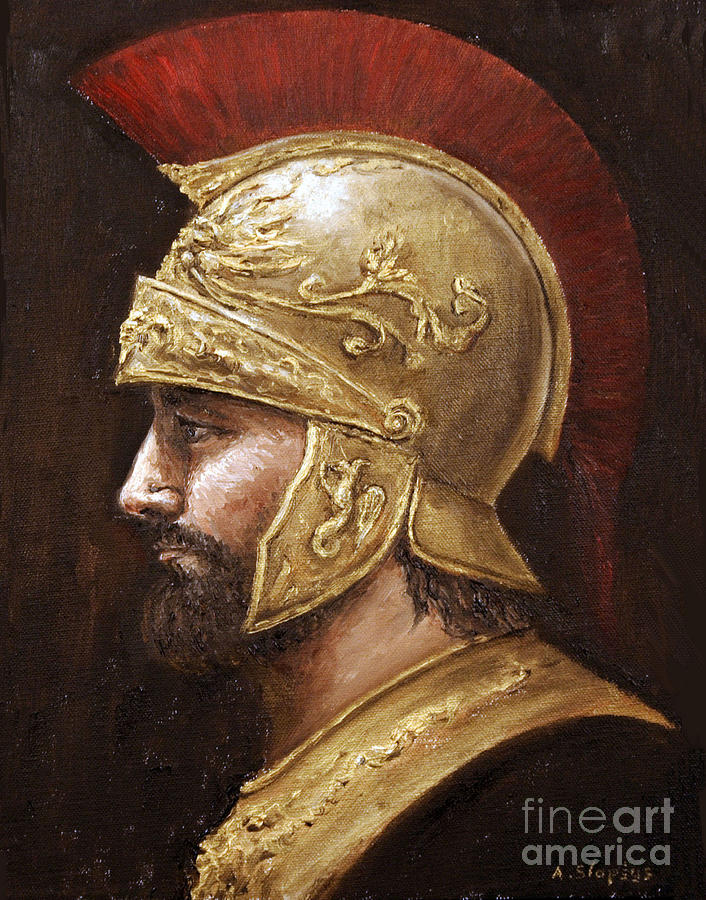Ares Painting by Arturas Slapsys