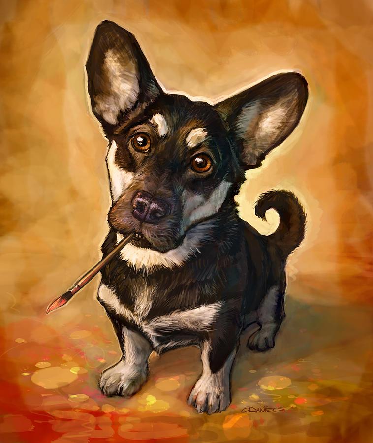 Dog Painting - Arfist by Sean ODaniels