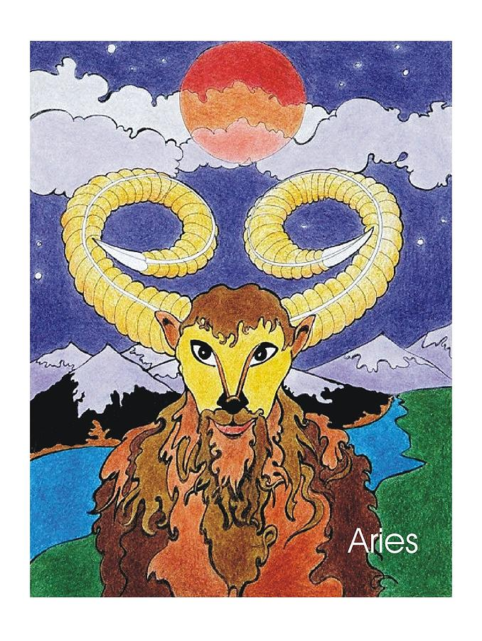 Aries The Ram Mixed Media