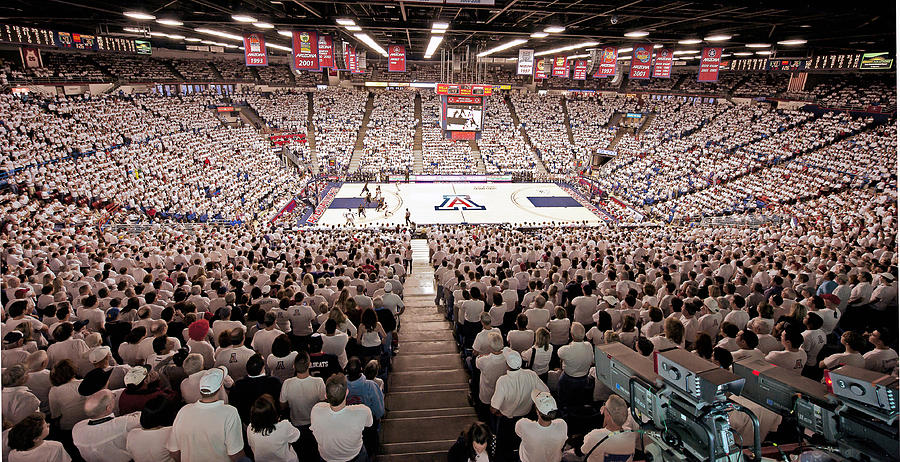 University Of Arizona Photograph - Arizona Wildcats White Out At Mckale Center by Replay Photos
