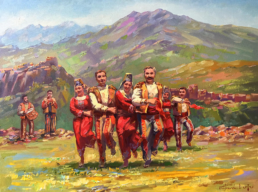 Armenian Dance Of Armenian Mountains Painting By Meruzhan