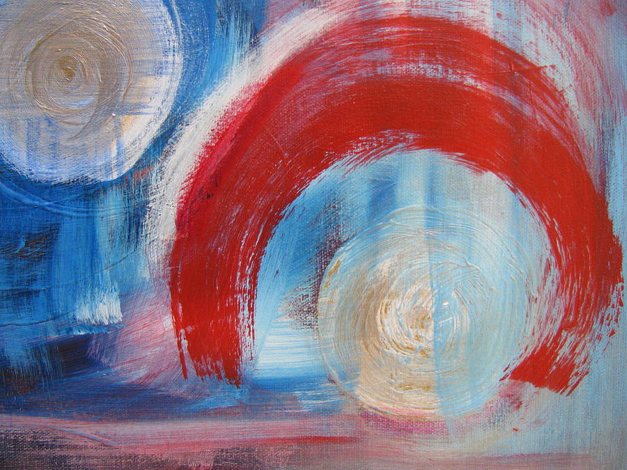 Abstracts Painting - Arrival Time by Lindie Racz