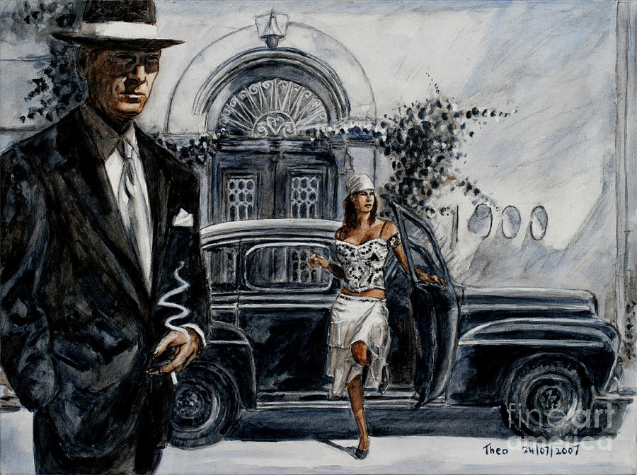 Film Noir Painting - Art Cafe 1900 by Theo Michael