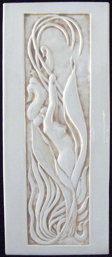 Art Nouveau Lily Woman Sculpture