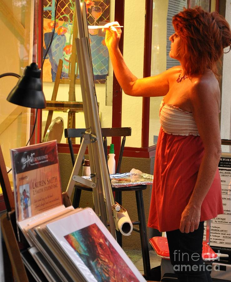 Artist At Work Photograph