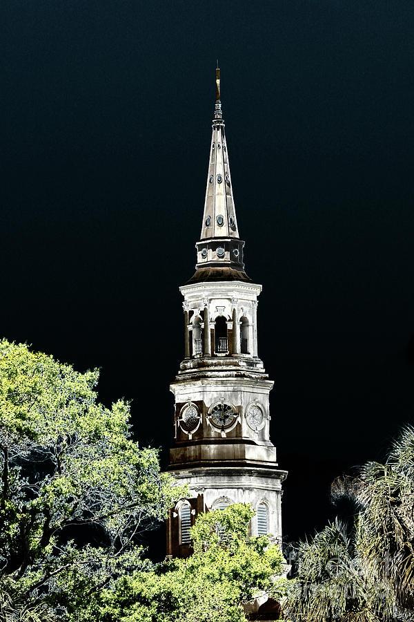 Artistic Church Tower Photograph