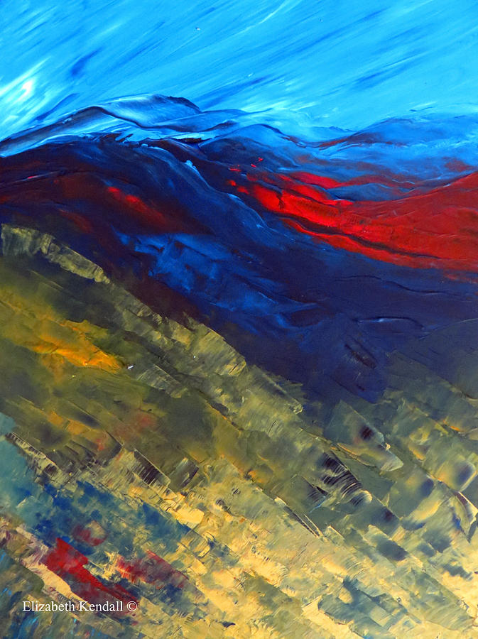 Depth Painting - As Far As The Eye Can See by Elizabeth Kendall
