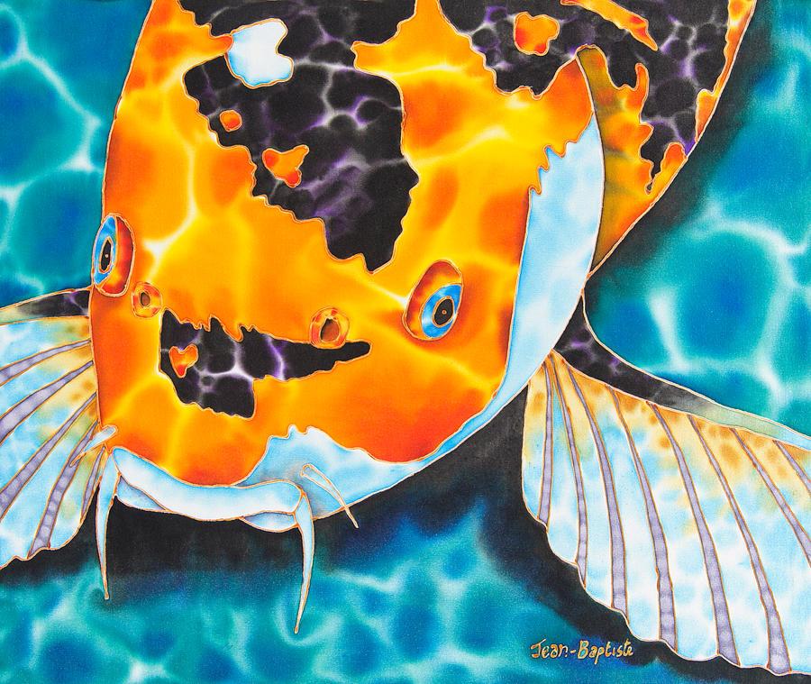 Asagi koi painting by daniel jean baptiste for Asagi koi fish