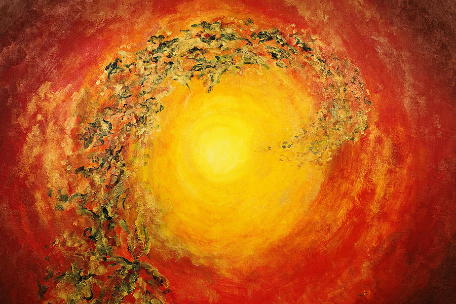 Abstract Painting - Ascending Light by Tara Thelen - Printscapes