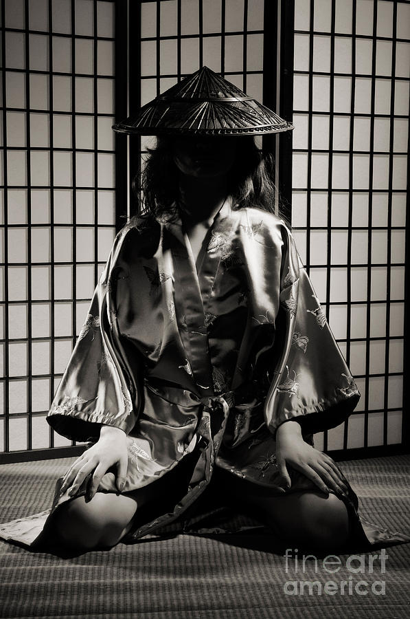 Asian Photograph - Asian Woman In Kimono by Oleksiy Maksymenko