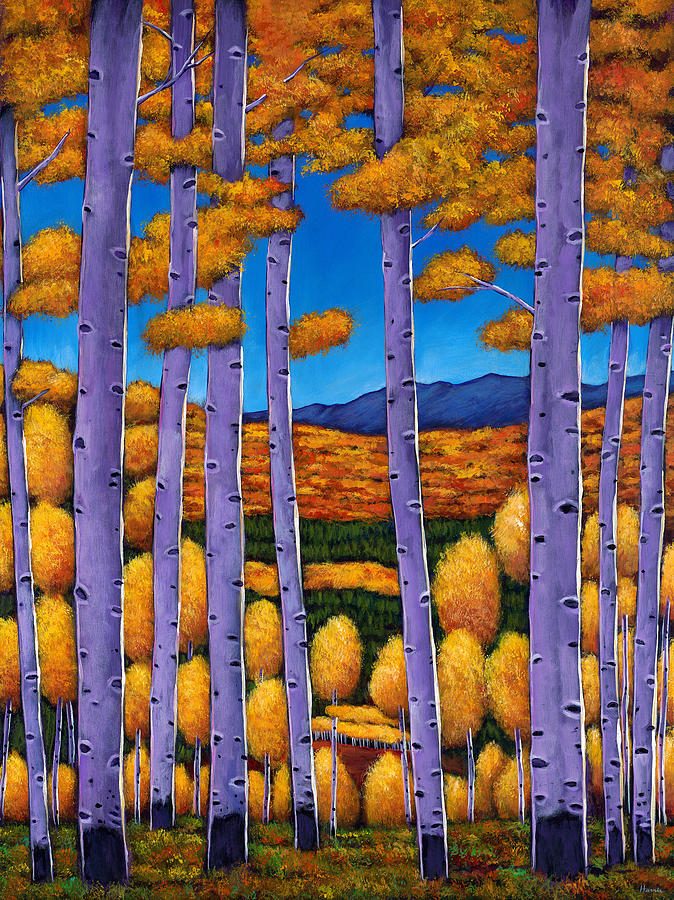 Autumn Aspen Painting - Aspen Country II by Johnathan Harris