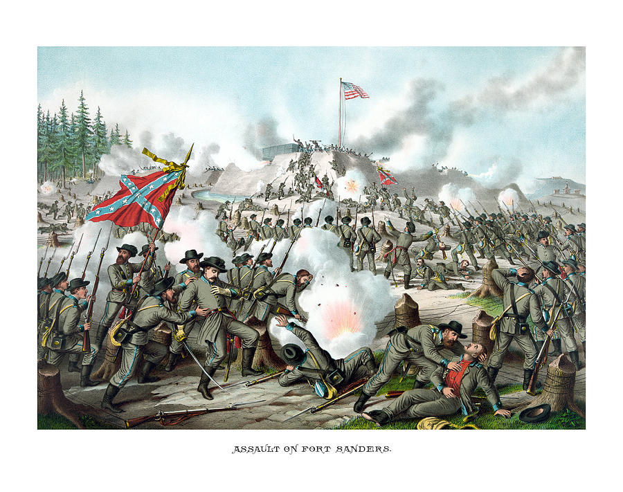 Assault On Fort Sanders Painting