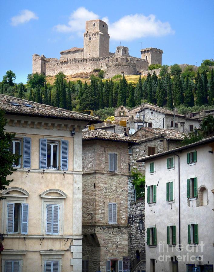 Assisi Italy - Rocca Maggiore - 02 Photograph