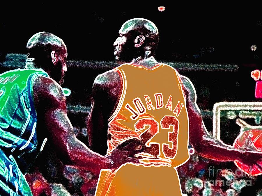 Michael Jordan Digital Art - Assist by Brandon Ramquist
