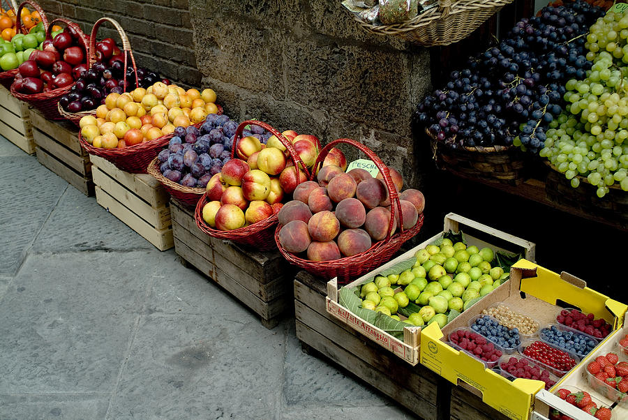 Photography Photograph - Assorted Fresh Fruits Of Berries by Todd Gipstein