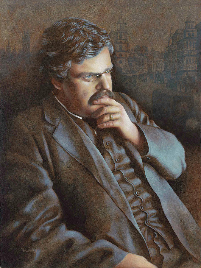 G.k. Chesterton Painting - Astonished At The World by Timothy Jones