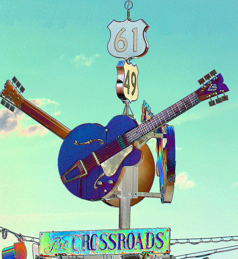 Music Photograph - At The Crossroads by Karen Wagner