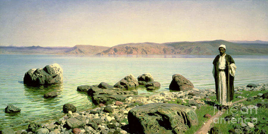The Painting - At The Sea Of Galilee by Vasilij Dmitrievich Polenov