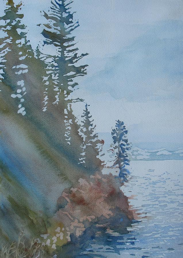 Watercolor Painting - At The Waters Edge by Jenny Armitage