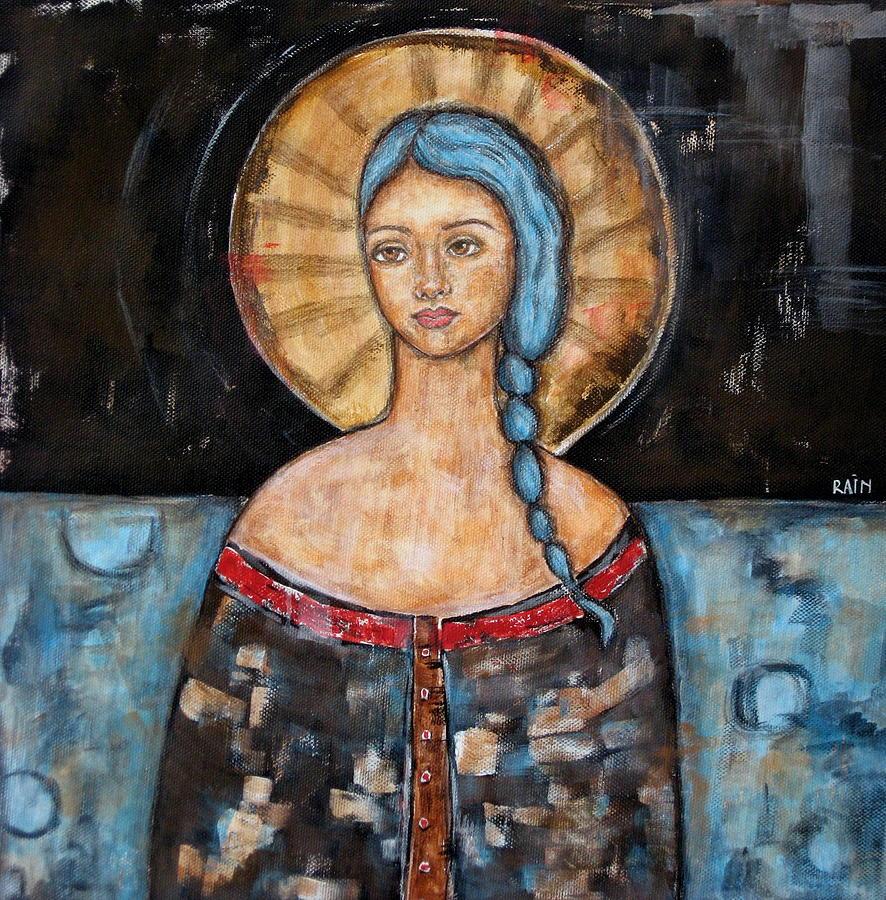 Paintings Painting - Athena by Rain Ririn
